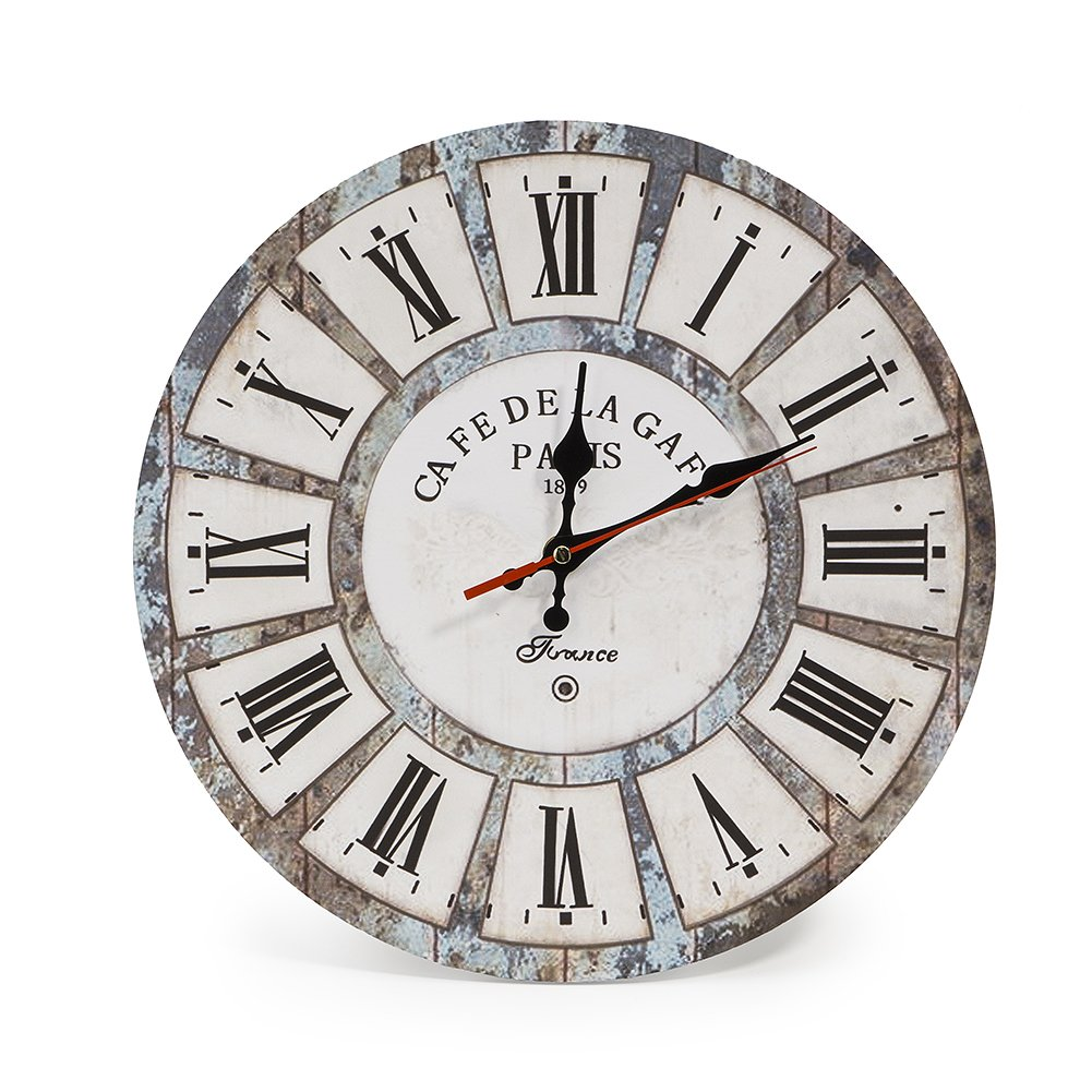 Cafe De Marguerites French Word 28Cm Wall Clock