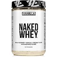 Less Naked Whey Vanilla Protein 1LB – All Natural Grass Fed Whey Protein Powder + Vanilla + Coconut Sugar- GMO-Free, Soy…