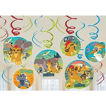 Amscan Disney Lions Guard 12 Piezas Swirl Guirnaldas Juego ...