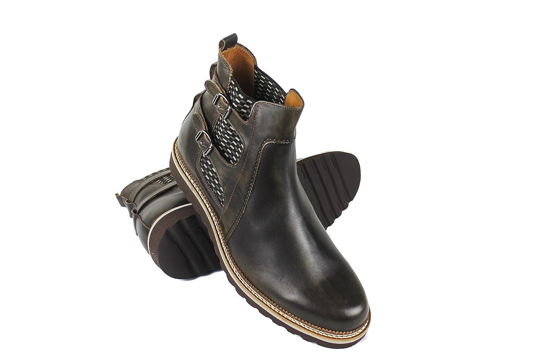 Zerimar Stiefel mit 7 cm Innen steigt Schuhe für Männer erhöhen auf undsichtbare Weise Ihre Körper Grösse  Höhe Steigerundg, Versteckter anhebender Ferse, 100% Leder