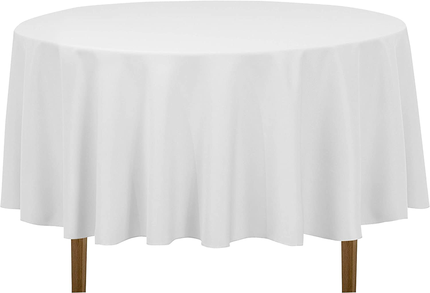 Amazon Com Linentablecloth 90 Inch Round Polyester Tablecloth White Home Kitchen