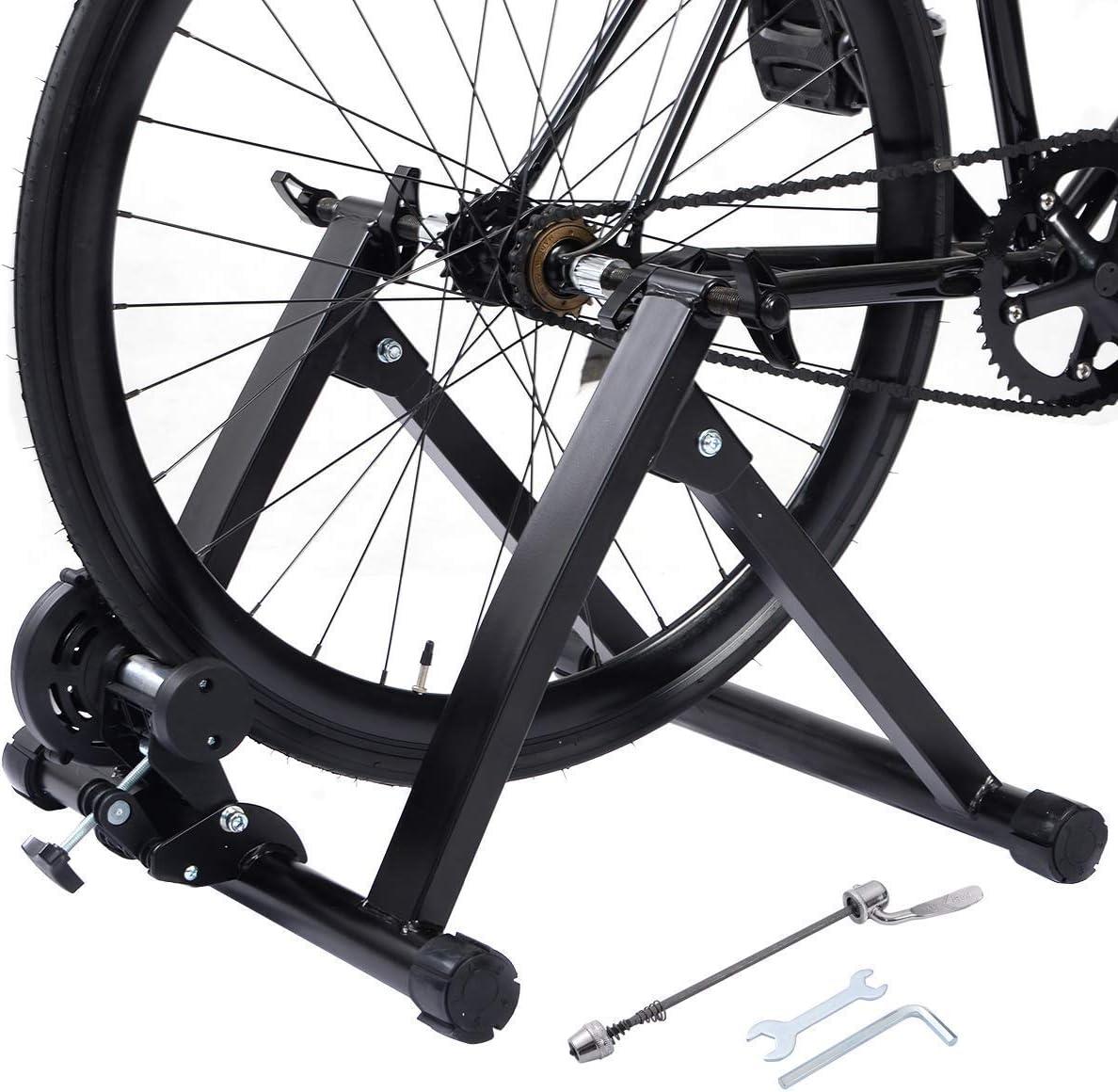 COSTWAY Bicicleta Estática Soporte Rodillo de Ciclismo Entrenamiento Plegable Carga Máxima hasta 150 kg Color Negro: Amazon.es: Deportes y aire libre