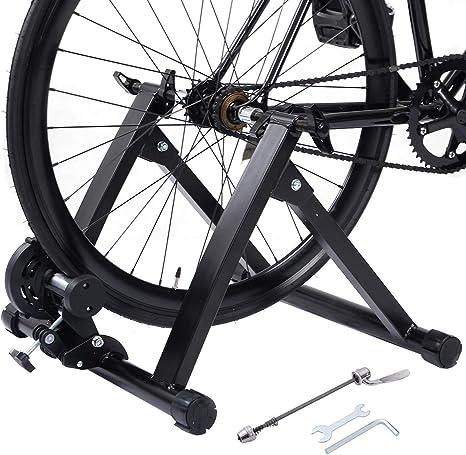 COSTWAY Bicicleta Estática Soporte Rodillo de Ciclismo ...