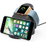 Fitbit Ionic Charger Charging Dock, Jelly Comb Fitbit Ionic Charging Stand Charging Station Cradle Holder Cable Accessories for Fitbit Ionic, Phone Stand