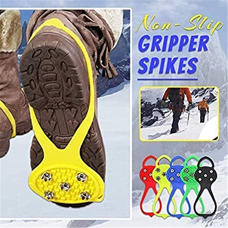 Durable Snow Grips Shoe Bottom Anti-Slip Covers for Hiking Walking ...