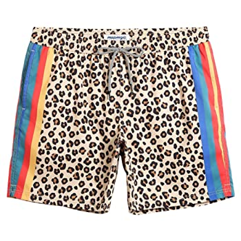 MaaMgic Funny Shorts Mesh Lining Mens Swim Trunk