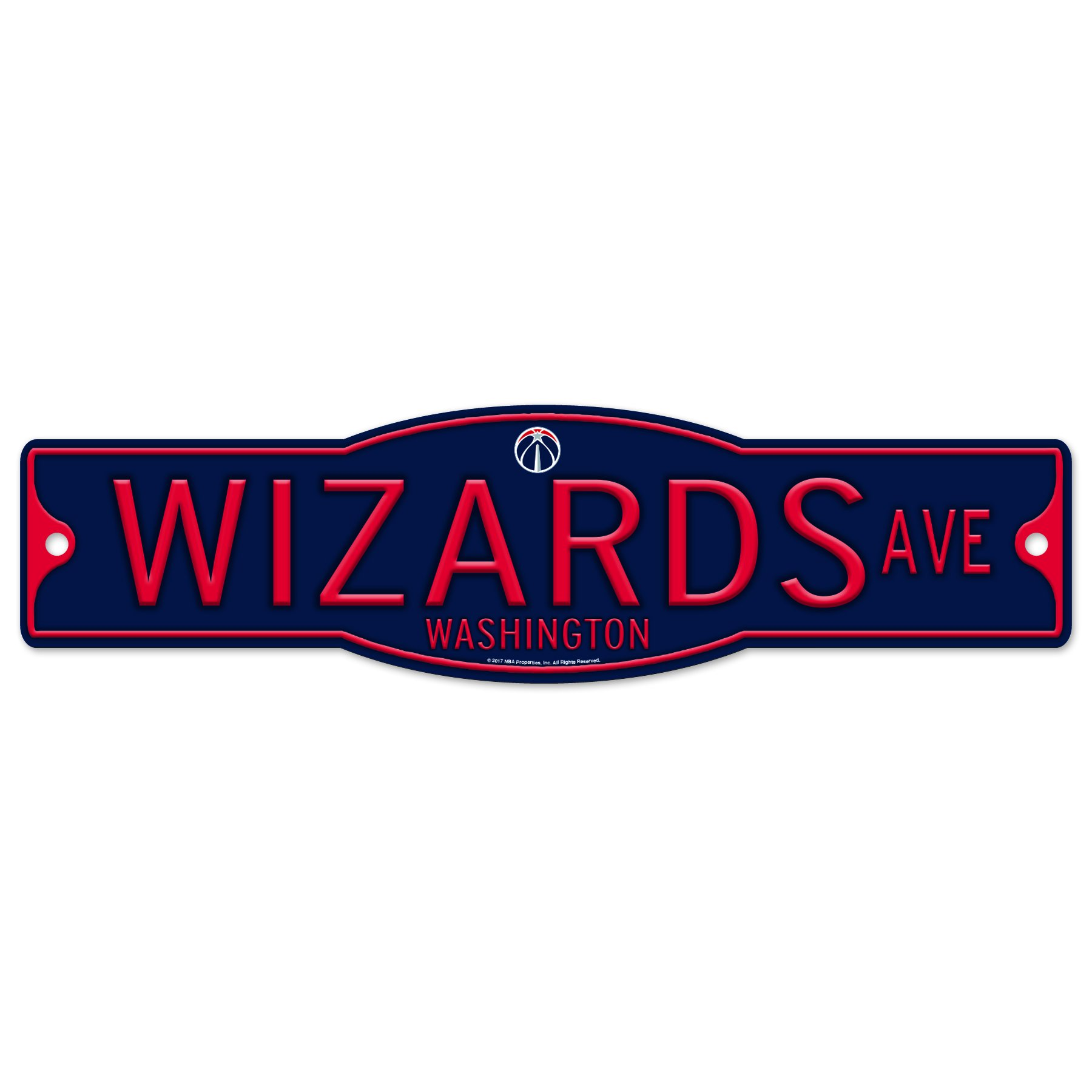 Washington Wizards 4'' x 17'' Plastic Street Sign NBA