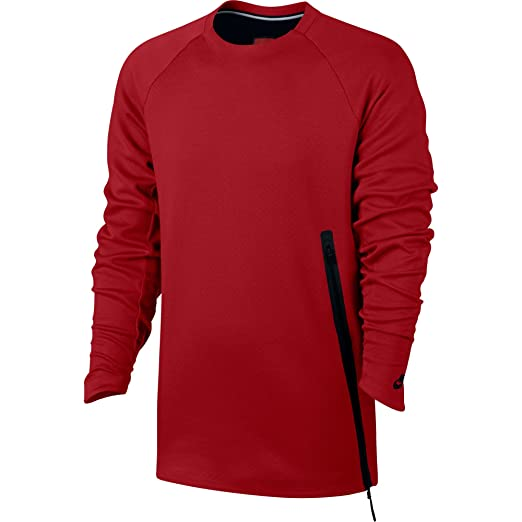 0fa781ba1eda Amazon.com   Nike Mens Sportswear Tech Fleece Crew Red 846348-602 ...
