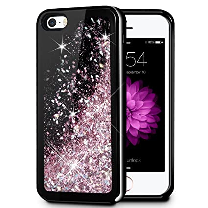 iPhone 5 5S SE Case, Caka iPhone 5S Glitter Case Starry Night Series Bling Fashion Luxury Flowing Liquid Floating Sparkle Glitter Soft TPU Case for ...