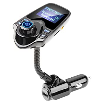 AMANKA Transmisor FM Bluetooth Coche Manos Libres con Cargador USB ...