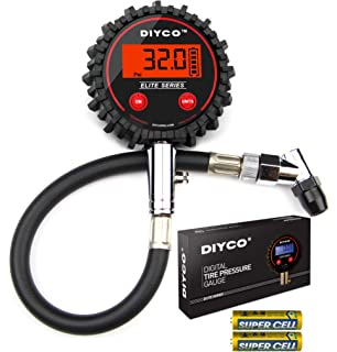 DIYCO Elite Series Digital Tire Pressure Gauge | for Cars Motorcycle Rv SUV Truck TPMS Bike