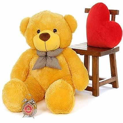 GURUDEV Loveable HUGABLE Soft Giant Life Size , Long Huge Teddy Bear(Best for Someone Special) (6 Feet, Yellow)