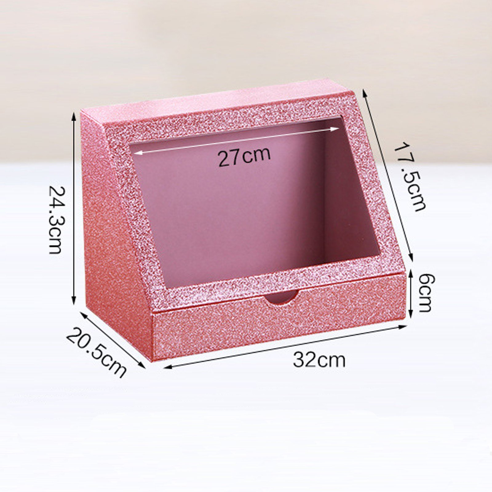 Arolly Glitter Makeup Organizer for Women/ Girls, Cosmetic Storage Case / Box [Pink] COS-GLT-01-PK / COS-GLT-01/02-PK