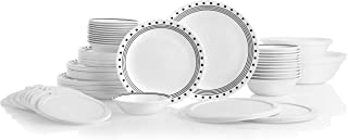 product image for Corelle Service for 12, Chip Resistant, City Block Dinnerware Set, 78 Piece