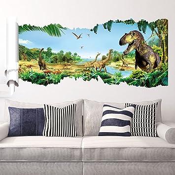 Zooarts Jurassic World Dinosaur Scroll Wall Decals Sticker For - Jurassic world wall decals