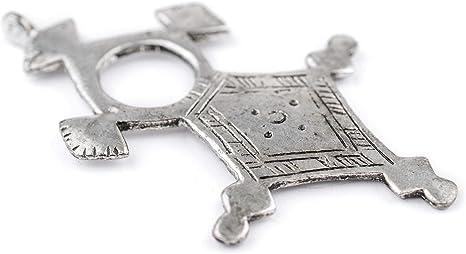 Tuareg Necklace Silver Cross Pendant Africa 109347