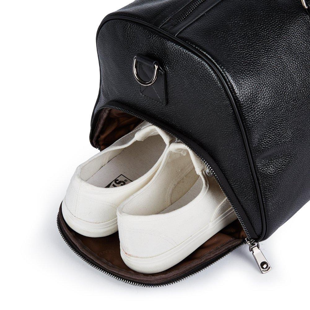 Botasten Leder Weekender Schuhfach