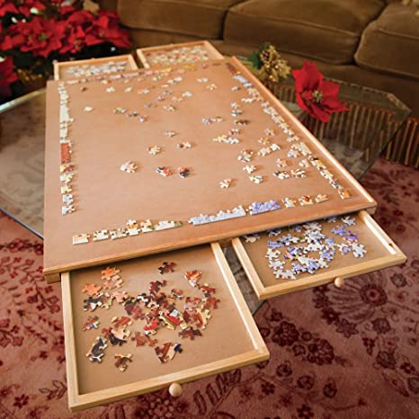 Exceptionnel Bits And Pieces   Jumbo Size Wooden Puzzle Plateau Smooth Fiberboard Work  Surface   Four