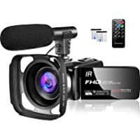 Video Camera 1080P Camcorder Full HD 30FPS 24MP Vlogging Camera for YouTube IR Night Vision 16X Digital Zoom Time Lapse…