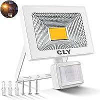 Foco LED Exterior, Focos LED Sensor Movimiento Exterior Impermeable, 20W CLY LED 1800LM IP66 6500K, Lámparas Led de Seguridad para Jardins, Garaje, Acera, Escaleras
