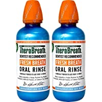 TheraBreath Dentist Recommended Fresh Breath Oral Rinse - Icy Mint Flavor, 16 Ounce (Pack of 2)
