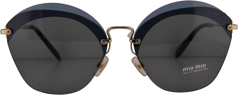 17198c881f7b Miu Miu MU53SS Sunglasses Transparent Blue w/Grey Lens 63mm VX09K1 SMU 53S  SMU53S MU ...
