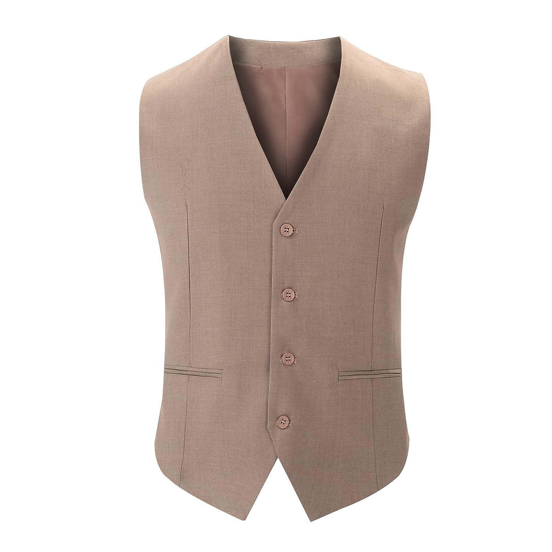 Männer - Anzug, Weste, männer - Anzug, Weste, Jugend, britische Anzug, Weste,Khaki,190   XXXL