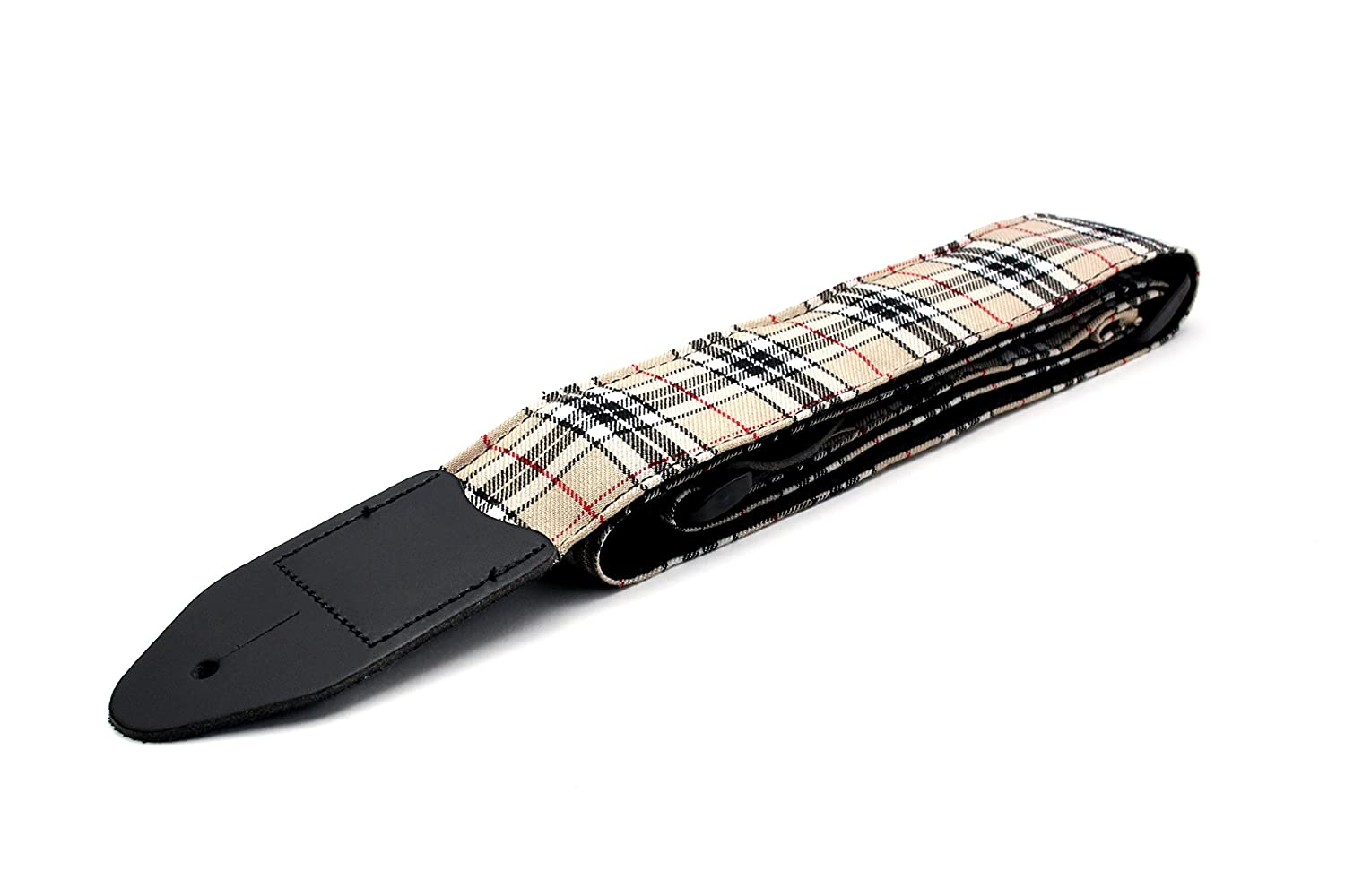 5fdb9c901 Burberry Check Acoustic Electric Guitar Strap with Adjustable Length (Free  Plectrums): Amazon.co.uk: Musical Instruments