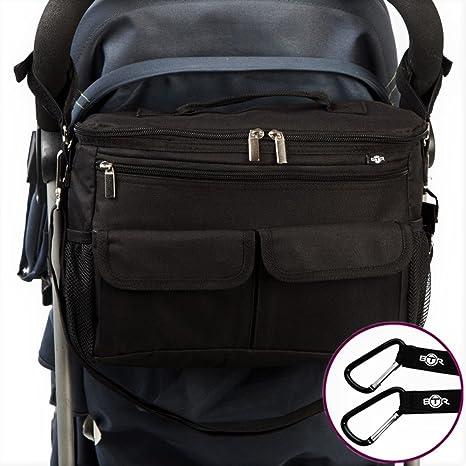 BTR Bolsa Para Bebe, bolsa carro bebe & bolso silla de paseo. 2 ganchos