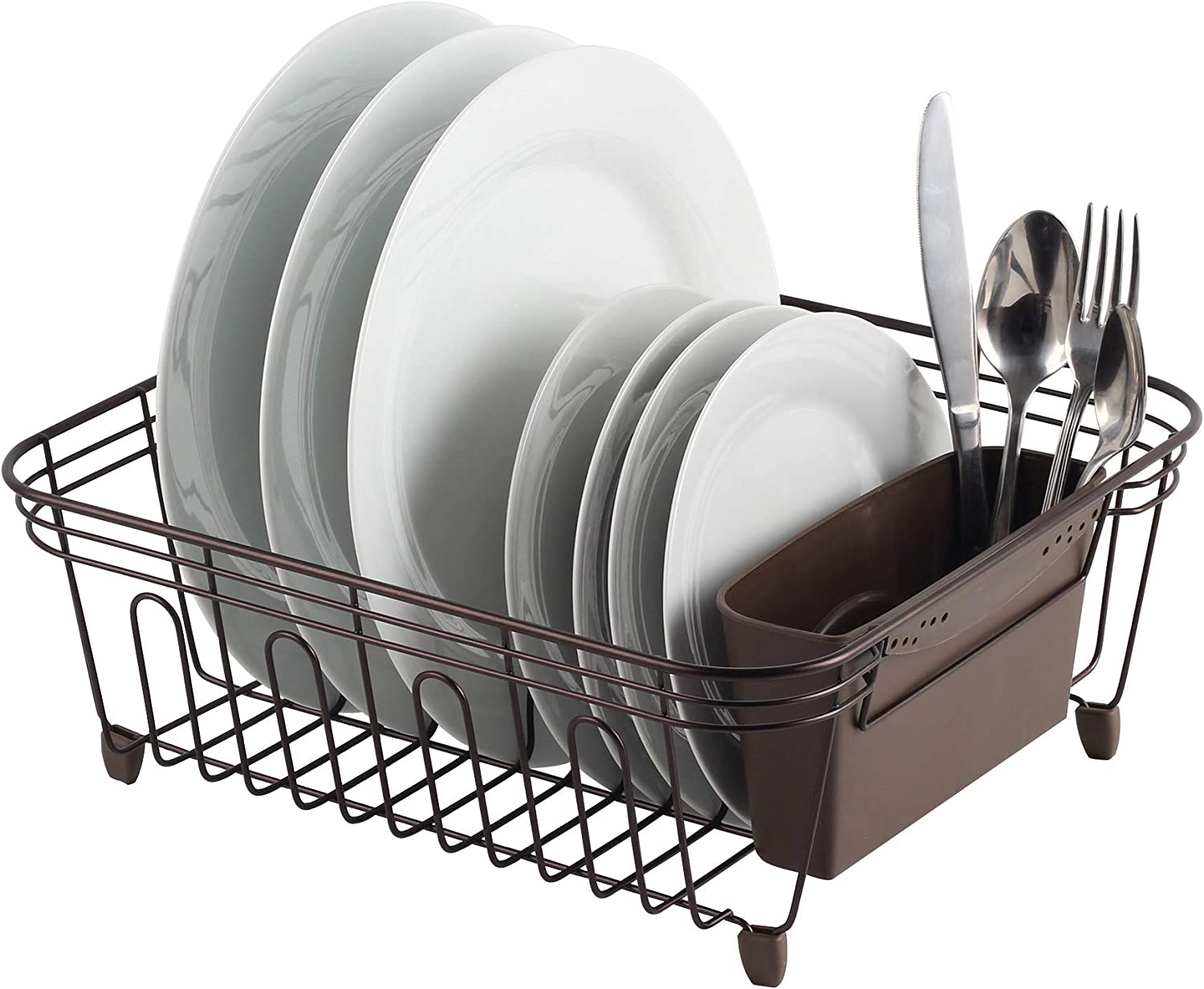 Amazon Com Real Home Innovations Deluxe Small Dish Drainer Oil Bronze