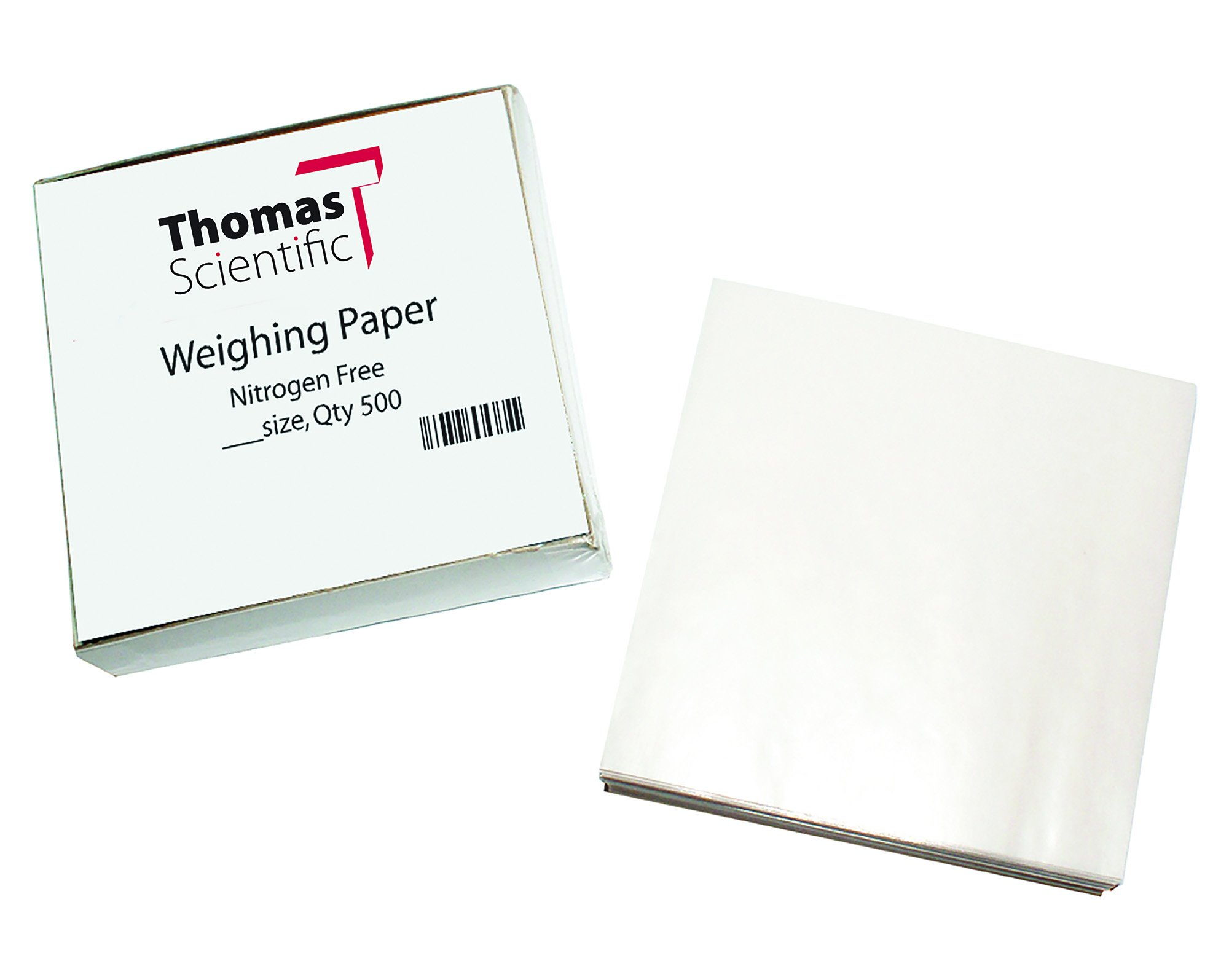 Thomas W33 Square Weighing Paper, Nitrogen Free, 3'' Length x 3'' Width (Pack of 500) by Thomas