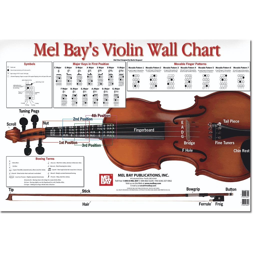 Amazon.com: Violin Wall Chart by Martin Norgaard: Everything Else