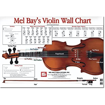 Amazon Violin Wall Chart By Martin Norgaard Everything Else