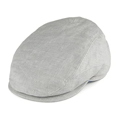 ec6bf745ba7 Failsworth Hats Irish Linen Duckbill Flat Cap - Light Grey X-Large ...