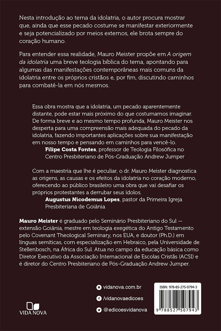 Amazon.com: A Origem da Idolatria (9788527507943): Mauro ...