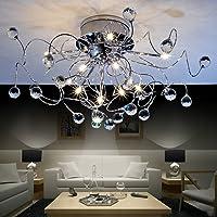 $iluminación Lámpara de techo de cristal Lámpara