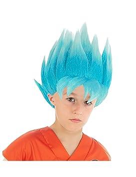 Generique - Peluca Azul Goku Saiyajin Super Dragon Ball Z niño: Amazon.es: Juguetes y juegos