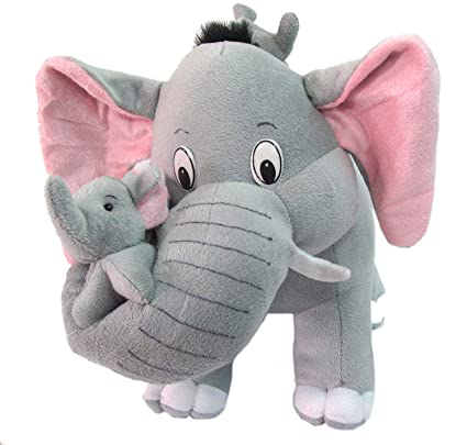 RVA Grey Mother Elephant with Two Baby Stuffed Soft Plush Toy (40 CM/15)