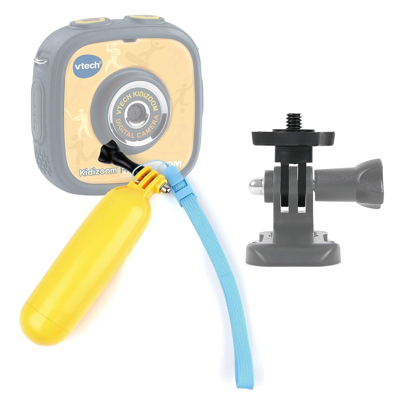 DURAGADGET Flotador Color Amarillo Compatible con La cámara de Fotos y vídeo Kidizoom Action CAM de VTech + Adaptador con Tornillo 1/4