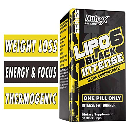 Nutrex Prompt Nutrition Lipo6 Black Intense Ultra Concentrate Fat Destroyer   60 Capsules with Importer Tag