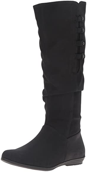 Cliffs by White Mountain Women's Fordham Slouch Boot, Black Sueded, ...
