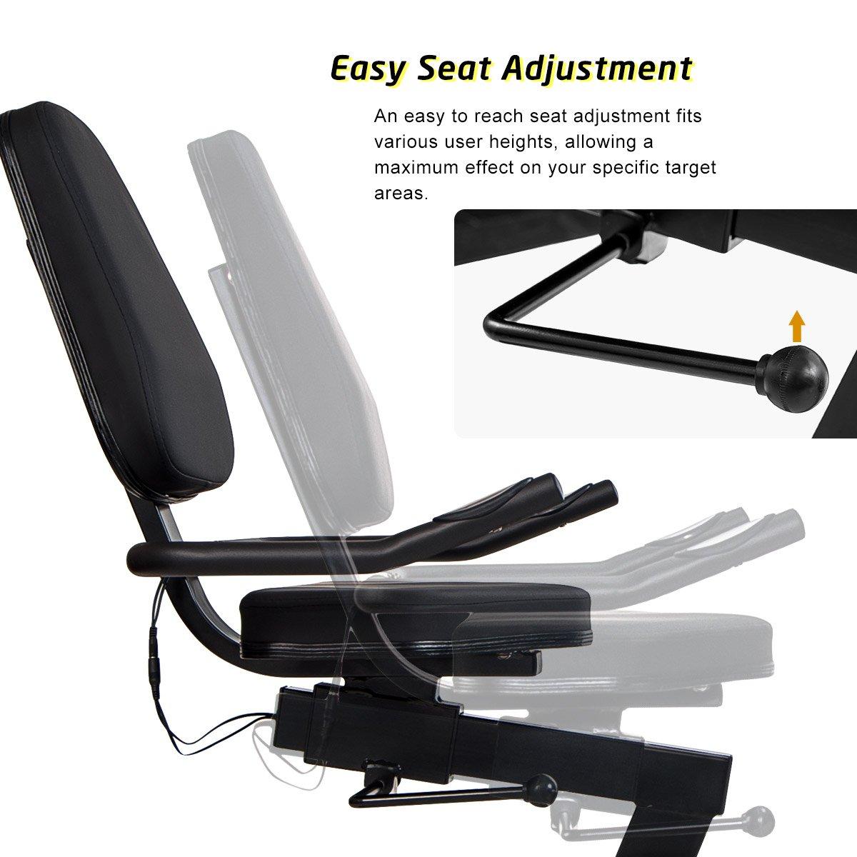 Merax Magnetic Recumbent Exercise Bike | 8-Level Resistance | Quick Adjust Seat (Black 2019) by Merax (Image #5)