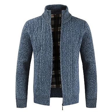 Mantel Riou Sweatblazer Dünne Jacke Cardigan Herren Stehkragen Beiläufige Winter Outwear Zipper Solid Open Sweatshirt Knit Tops Männer Strickjacke nwOP8XN0k