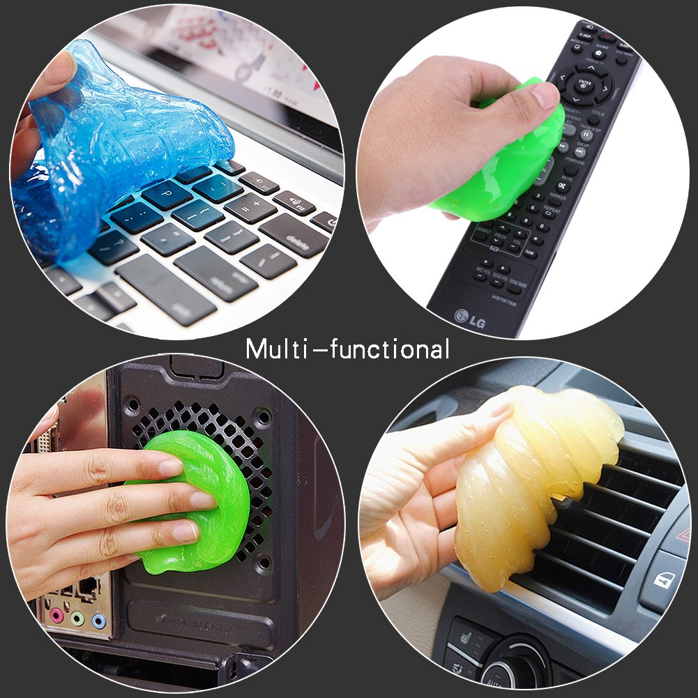 ieGeek Magic PC Laptop Computer Keyboard Cleaner Set (4 Pack + Storage Box) - Super Keyboard Cleaning Silica Gel Gummy Cleaners for Electronics by ieGeek (Image #6)