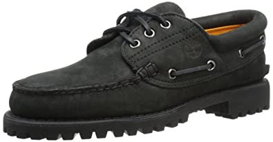 Timberland Men's Authentics 3 Eye Classic Lug Boot, Black