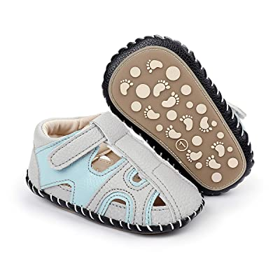Toddler Boys Sandals Closed Toe Sandals Non-Slip Rubber Sole Kids Baby Summer