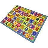 JVL Children's Bright Alphabet Numbers Play Mat, Polyamide, 80 x 110 cm