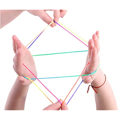 Toyland Cats Cradle - Magical String Art - Multi-Coloured Tricks - Classic Fun: Toys & Games