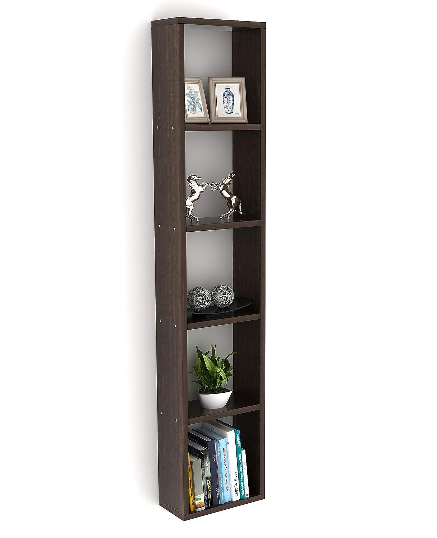 Bluewud Walten Wall Mount Book Shelf Rack/Display (Standard, Wenge)