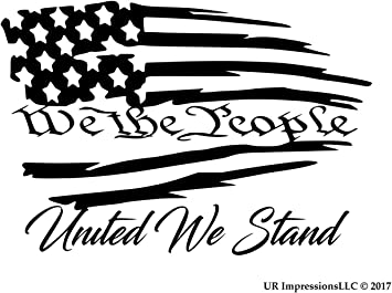 We The People  Rear Window Graphic Decal Truck SUV Van Car